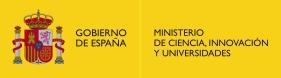 (Ministerio de Ciencia, Innovación y Universidades)